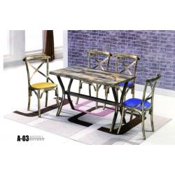餐桌椅 复古工业风桌椅椅 实木餐桌椅 铁艺桌椅椅 复古桌椅 快餐桌椅 个性主题桌椅 钢木家具 酒店家具 绍明家具