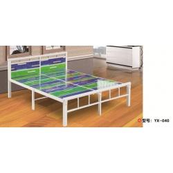 胜芳床铺批发 双人床 实木床 铁条床 折叠双人床 木质双人床 双人板床 北欧家具 卧室家具 宇鑫家具