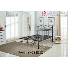 胜芳床铺批发欧式床 铁床 铁艺床 双人床 折叠双人床 铁艺双人床 双人板床 金属床 卧室家具 欧博瑞家具