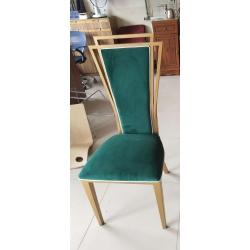 胜芳餐椅批发 新古典酒店餐椅 明清中式椅子大型酒店宴会椅 豪华包布椅 金属将军椅 休闲椅 主题餐厅椅 华硕家具