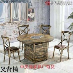 叉背椅 胜芳餐椅批发  金属椅 铁腿餐椅 不锈钢餐椅 餐厅家具 主题家具 美式复古家具 中庆德家具
