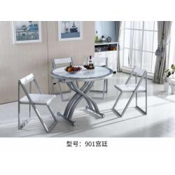 胜芳茶几批发 圆形餐桌 钢化玻璃多功能餐桌 折叠伸缩升降餐桌 变餐桌两用 甬力家具