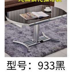 胜芳茶几批发 圆形餐桌 钢化玻璃多功能茶几 折叠伸缩升降茶几 变餐桌两用 甬力家具