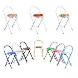 胜芳折叠凳批发 折叠凳 便携简易小圆凳 户外家用板凳 加厚塑料折叠椅 结实凳子 政浩家具