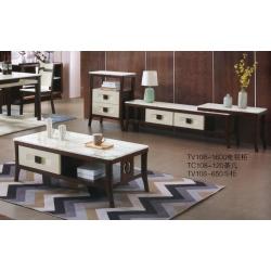 胜芳茶几电视柜批发 北欧茶几桌整装 多功能 客厅现代简约 不锈钢 可伸缩带储物 实木 美丽家家具