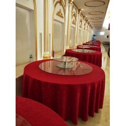 胜芳家具钢化玻璃转盘挖洞玻璃加餐台转盘车