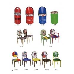 胜芳主题餐椅批发 酒店椅 餐椅 时尚椅 铁艺 实木 腾达家具