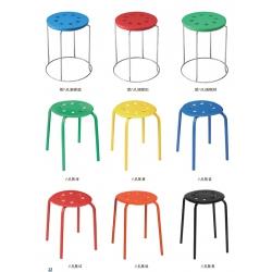 胜芳铁腿凳子批发 三腿凳子 四腿凳子 铁质凳子 钢筋凳 套凳 圆凳 简易家具 李氏家具