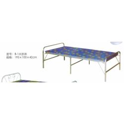 胜芳圆头两折床 折叠床 简易床 午休床 四折床 单人床 陪护床 铁艺床 竹板床 龙骨床 单人床批发 鑫洋家具