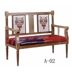 胜芳家具批发 卡座 咖啡椅 懒人椅 沙发椅 复古铁艺卡座 休闲 餐馆西餐厅咖啡厅桌椅组合 谈桌椅组合 明明强家具