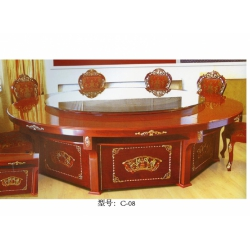胜芳餐桌椅 转盘桌 实木旋转大餐台 桌面 桌架 实木餐桌椅 实木餐台椅 中式餐桌椅 实木餐桌椅组合批发 木质家具 餐厅家具中式家具 朋来顺达家具