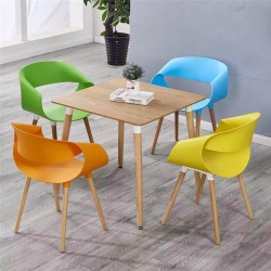 胜芳塑料椅批发 现代简约 靠 背椅子 家用餐椅 成人 北欧休闲 创意凳子 美式复古 塑料椅子 太阳椅 会议椅子 鑫圣达家具