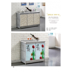 胜芳多用柜批发 三开橱柜 理石橱柜 碗厨 玻璃面橱柜 板台 碗架 板式橱柜 储物柜 简易橱柜 尚达家具