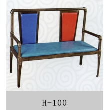 胜芳家具批发 卡座 咖啡椅 懒人椅 沙发椅 复古铁艺卡座 休闲 餐馆西餐厅咖啡厅桌椅组合 谈桌椅组合 林亿家具