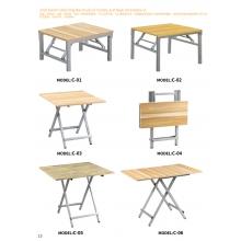 胜芳折叠桌 小型折叠桌 手提桌 小方桌 木质折叠桌 户外桌 户外家具批发 光华家具