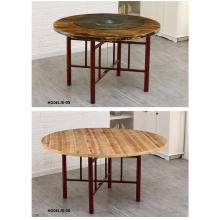 胜芳方圆桌批发 圆形简易折叠餐桌 正方形餐桌 酒店大圆桌 小户型家用折叠饭桌 光华家具