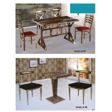 胜芳餐桌椅 复古工业风桌椅椅 实木餐桌椅 铁艺桌椅椅 复古桌椅 快餐桌椅 个性主题桌椅 钢木家具 酒店家具 光华家具