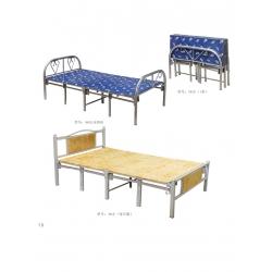 胜芳圆头两折床 折叠床 简易床 午休床 四折床 单人床 陪护床 铁艺床 竹板床 龙骨床 单人床批发 鑫美家具