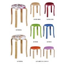 胜芳凳子 木质凳子 木腿凳子 休闲凳 时尚凳批发 简易家具 美迪家具