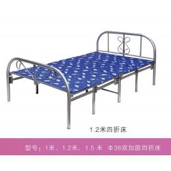 胜芳床铺批发 折叠床 单人床 铁艺折叠床 双人床 四折床 午休床 折叠椅 简易床 铁质板床 板床批发 顺合家具