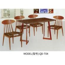 胜芳快餐桌椅批发 餐厅家具 休闲桌椅 木纹餐桌椅 实木餐桌椅 餐桌餐椅 餐厨家具 强大家具