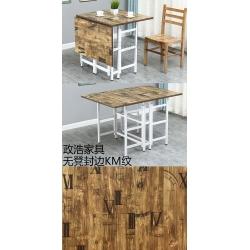 胜芳折叠桌批发 无凳折叠餐桌 推拉台 豪华餐桌可伸缩折叠餐桌 政浩家具