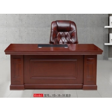 胜芳班台批发 办公家具 大班台 老板桌 办公桌椅组合 现代中式 实木皮总裁桌 经理桌 总裁主管大班台 纯实木班台 宏盛家具