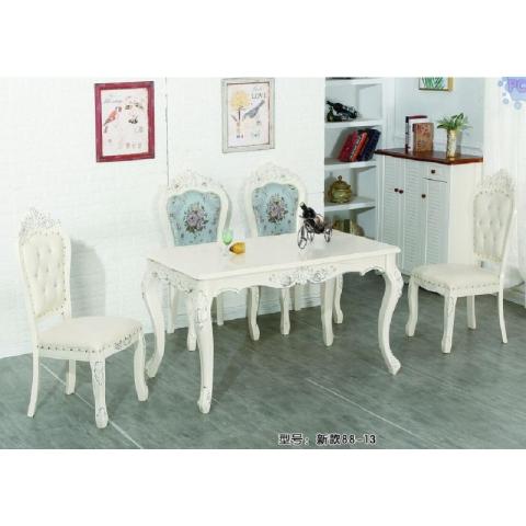 胜芳玻璃餐桌椅批发 成套餐桌椅 时尚 简约 个性 高雅 大方 雕刻餐桌 飞豹餐桌(原和平先锋)