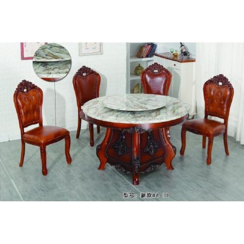 胜芳玻璃餐桌椅批发 成套餐桌椅 时尚 简约 个性 高雅 转桌 电动 雕刻餐桌 飞豹餐桌(原和平先锋)