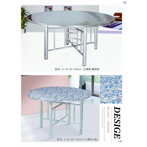 胜芳方圆桌批发 圆形简易折叠餐桌 正方形餐桌 酒店大圆桌 小户型家用折叠饭桌 宏发家具