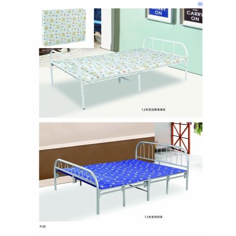 胜芳圆头两折床 折叠床 简易床 午休床 四折床 单人床 陪护床 铁艺床 竹板床 龙骨床 单人床批发 文祥家具