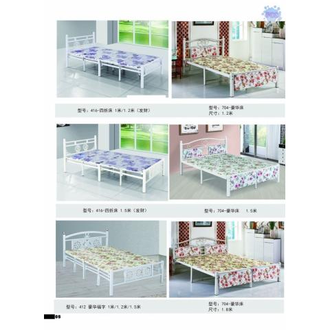 胜芳床铺批发欧式床 双人床 折叠双人床 铁艺双人床 双人板床 金属床 卧室家具 恒泰家具