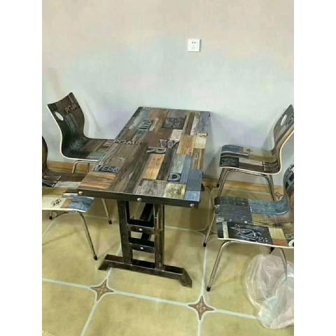 胜芳家具批发 主题桌椅做旧桌椅转印桌椅曲木桌椅  吧椅  吧桌   餐椅  餐桌  快餐桌  北欧工业风家具   奥群家具