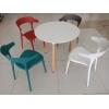 胜芳家具批发北欧休闲时尚餐椅塑料创意洽谈椅懒人椅牛角椅兴东家具