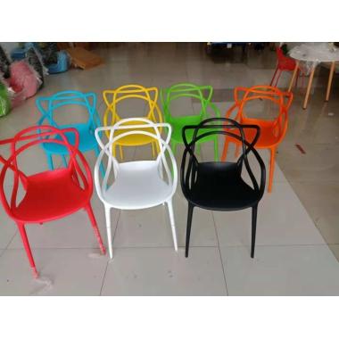 胜芳家具批发椅子现代简约懒人家用伊姆斯猫耳椅子书桌洽谈塑料凳子靠背北欧餐椅兴东家具