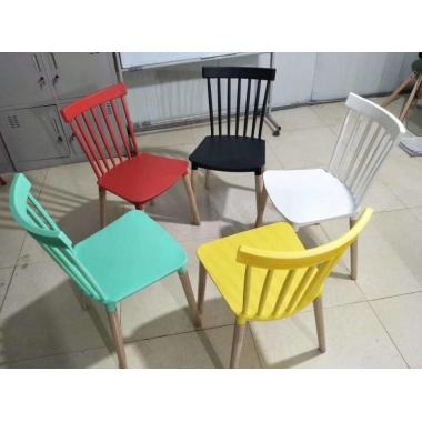胜芳家具批发椅子现代简约懒人家用伊姆斯温莎椅书桌洽谈塑料凳子靠背北欧餐椅兴东家具