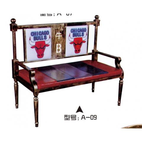 胜芳家具批发 卡座 咖啡椅 懒人椅 沙发椅 复古铁艺卡座 休闲 餐馆西餐厅咖啡厅桌椅组合 谈桌椅组合 鑫磊家具