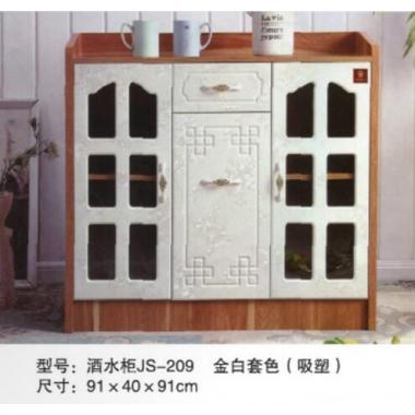 胜芳酒水柜批发 实木餐边柜 简易茶水橱柜 酒水柜 带抽屉储物碗柜 顺合家具