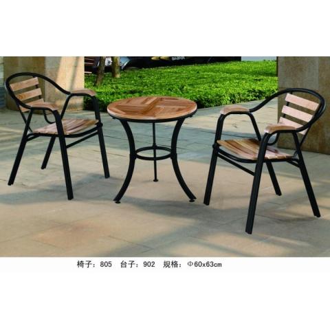胜芳88必发手机版登录 户外实木桌椅组合 庭院休闲椅子 露天阳台桌椅 咖啡厅休闲 铁艺家具 桌椅五件套 美华家具