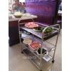 胜芳置物架批发三层不锈钢置物架微波炉架菜架瑞沃达家具