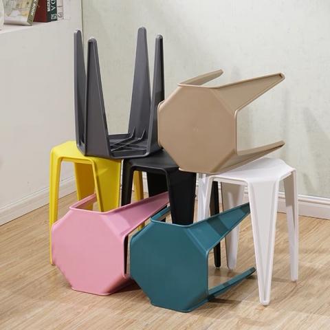 成人加厚塑料凳 简易彩色凳子折叠椅凳 家用凳 户外圆凳 全塑料凳