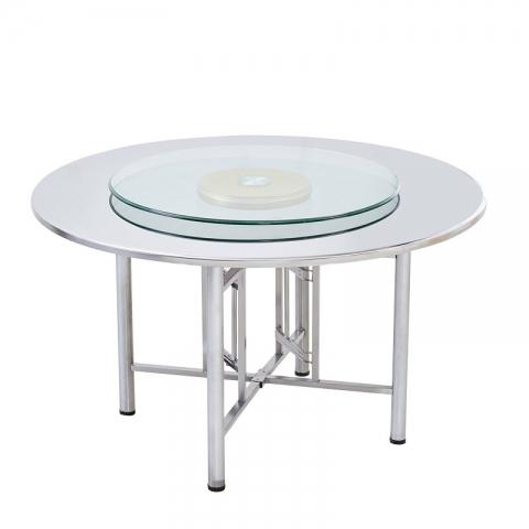 胜芳不锈钢餐桌批发 大圆桌 酒店餐桌 酒席桌 可折叠酒店桌 酒店家具