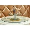 胜芳批发钢化玻璃转盘彩玻加餐台挖洞玻璃