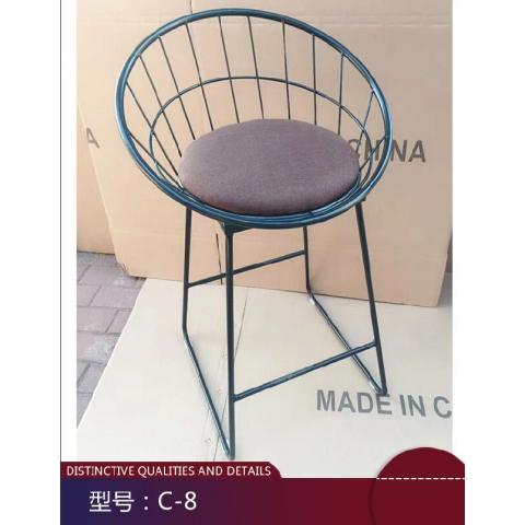 胜芳休闲椅批发 现代简约 靠背椅子 简约咖啡厅桌椅 北欧休闲 创意凳子 美式复古 铁艺椅子 伊姆斯 椅子 咖啡椅 瑞成家具