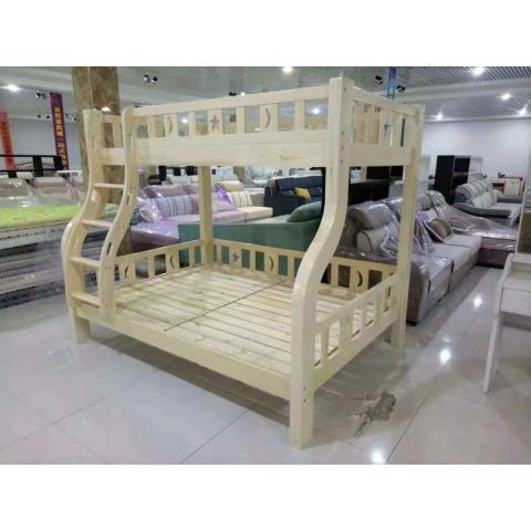 胜芳子母床 实木子母床 儿童床 上下床 实木上下床 高低床 双层床批发 柏丽达家具厂 卧室家具 儿童家具 罗纳尔实木家床
