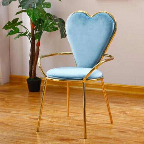 胜芳家具批发 北欧餐椅 现代简约家用化妆椅 ins网红椅子 铁艺扶手靠背椅 休闲桌椅 优思曼家居
