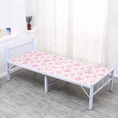 胜芳圆头两折床 折叠床 简易床 午休床 四折床 单人床 陪护床 铁艺床 竹板床 龙骨床 单人床批发 宝来家具