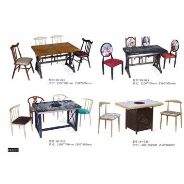 胜芳餐桌椅批发 复古式餐桌椅 主题餐桌椅 转印餐桌椅 钢木家具 快餐桌椅 休闲家具 会所家具 酒店家具 浩翔家具