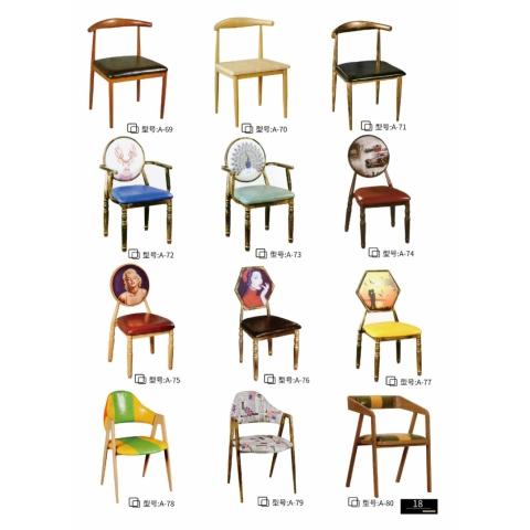 胜芳复古铁艺餐椅批发 太阳椅 牛角椅 A字椅 铁皮椅 叉背椅 围椅 太阳凳 時尚休闲椅 奶茶店咖啡厅椅等系列复古家具 谨诚家具