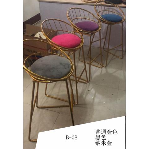 胜芳家具批发 吧台椅 铁架椅 主题餐厅椅 古典工业风椅子 A字椅 高脚椅 咖啡椅 KTV前台椅 靠背酒吧椅 酒吧家具 商业家具 欧瑞家具